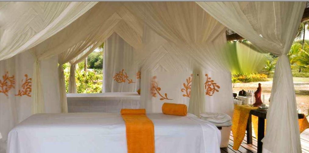 Uma das salas de massagem do sofisticadérrimo SPA!