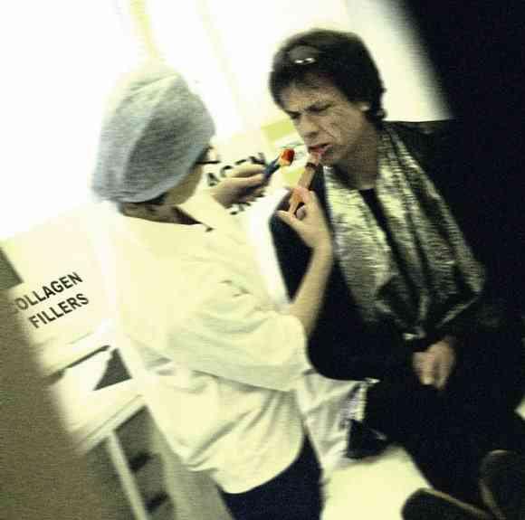Mick Jagger e seus lábios carnudos...
