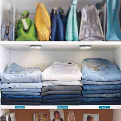 Jeans dobrados para quem tem pouco espaço!