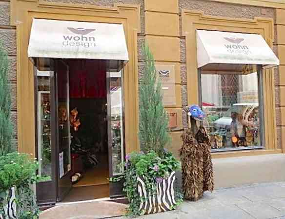 A charmosa fachada da Wohn Design!