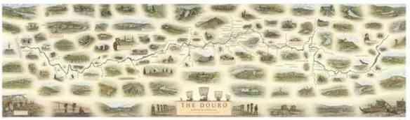 Mapa ilustrado da região do Douro!