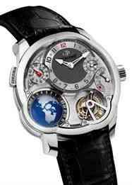 Este é o the best, pra meu gosto: GMT, em ouro branco e com o que me arrebatou: display de hora de 24 países que escolhermos! Docccc, se eu ganhar na Sena vou te dar este regalito de natal!!!! :-)