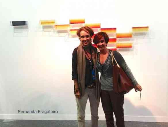 Passei uma gloriosa tarde na ArtRio. Aqui, visito a Galeria Baginski de minha querida amiga Andrea!