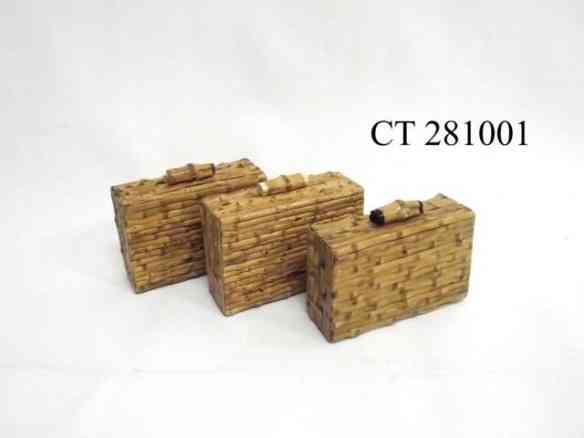 Novo shape para as clutch de bambu: quadradinho.