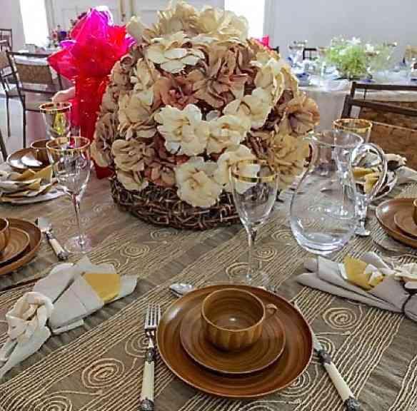 Adorei a brasilidade da mesa de Maria Geralda Rodrigues: Palha é tudo nesta vida!