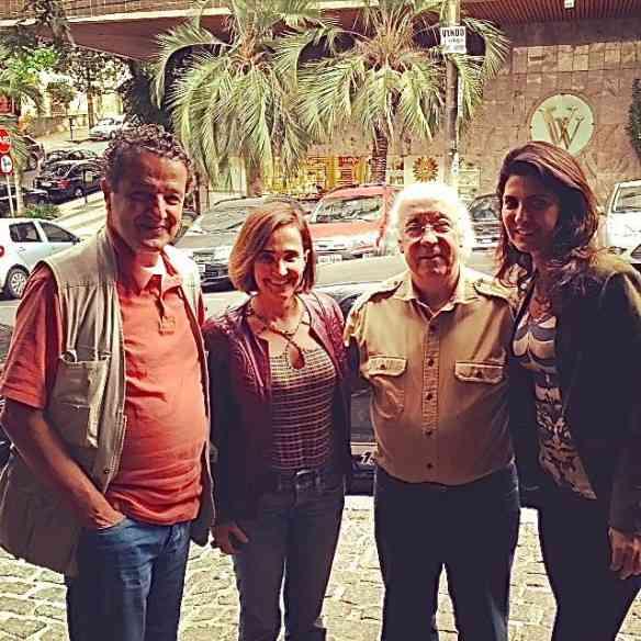 Na saída, MP e eu tivemos a  honra de conhecermos os craque Juca Kfouri e Tostão, que também almoçaram por lá!