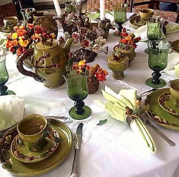 Adorei a mesa de Sonia Toledo e principalmente a cerâmica, feita por ela própria!