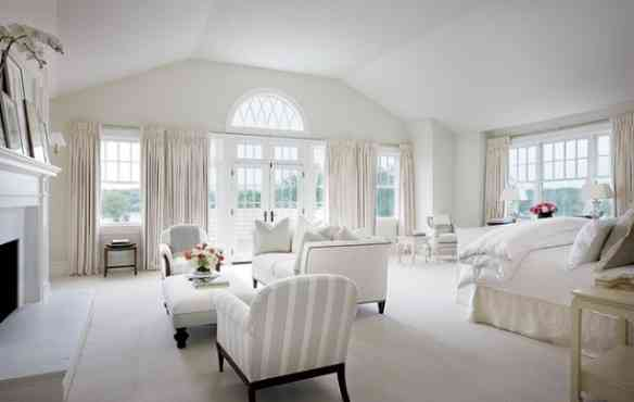 architectural digest white bedroom hamptons