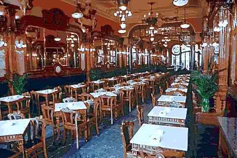 Interior do Café majestic, para uma refeição ligeira ou um café!
