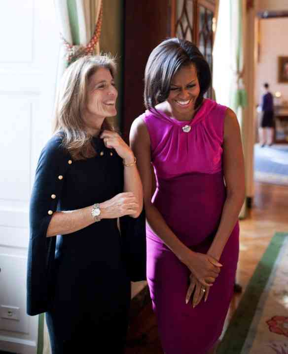 First Lady Michelle Obama with Caroline Kennedy