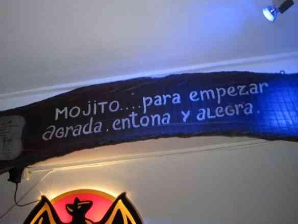 Um dos bares latinos...