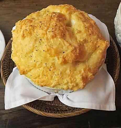Esta é a versão da Irene e da minha casa do suflê de arroz!