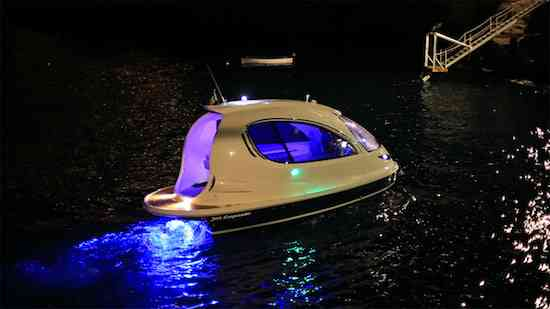 Jet-Capsule-superyacht-tender-by-night