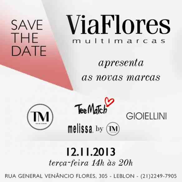 Save The Date Via Flores
