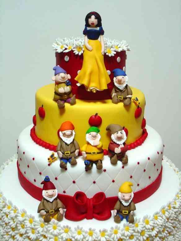 Branca de neve - close bolo