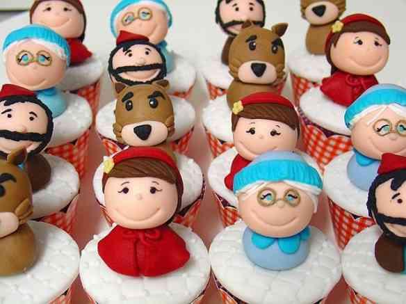 Chapeuzinho vermelho - cupcakes