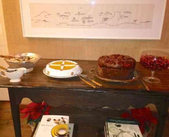 Menu dos doce: Torta de nones dos deuses e da Marta Proto, panetone, sorvete de creme com compota de marrom (a minha foi feita em casa mas tem pronta no supermercado) e cerejas pra quem estiver light!