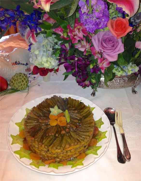 Eis a minha perdição: bolo de quiabo com damasco… Pra quem gosta é vício pro resto da vida!