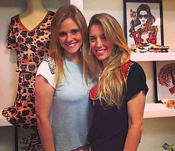 As amigas de infância e sócias na TEE MATCH Mariana Elmann e Nicole Abramoff: lindas e super talentosas!