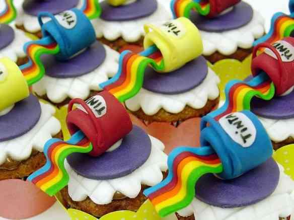 tintas - cupcakes