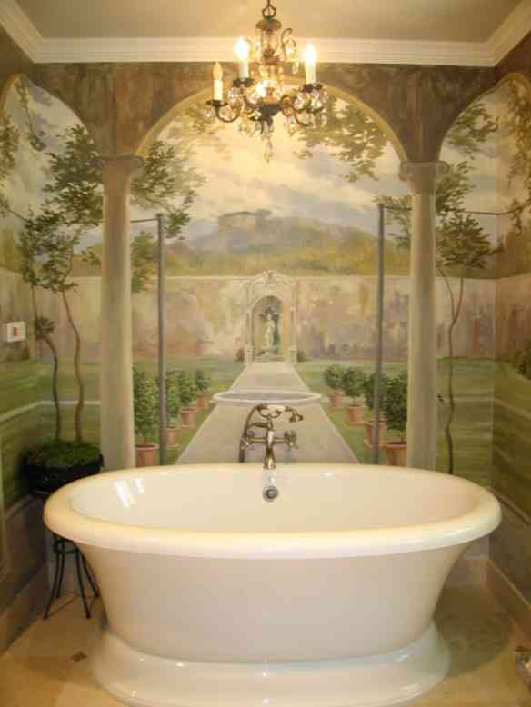 Lydick Bath Mural French