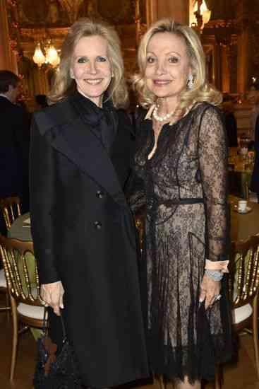 Mme Martin Bouygues e a Baroneza Gerard de Waldner