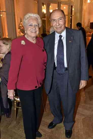 Mr et Mme Serge Dassault. Diner au profit de la societe des amis du musee d'Orsay donne par la Comtesse de Ribes.