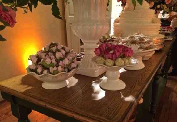 Os focinhos eram enformados para parecerem flores, formando um bouquet delicioso!