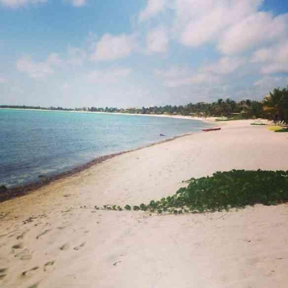 Visual da Bahia Punta Soliman onde ficava nosso hotel em Tulum: Heaven!