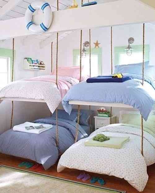 Shared-Room-for-Four-4-with-Beautiful-Sweet-Bunk-Beds