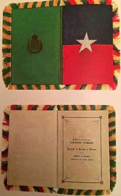 """Uma pérola: Foto da capa e introdução menu do famoso """"Baile da Ilha Fiscal"""", no dia : Véspera da proclamação da república!"""