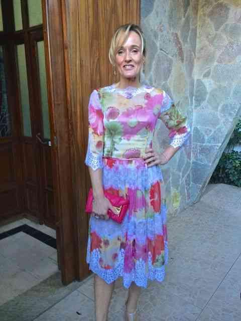 Com inspiração D&G, o divino vestido de Luiza fez bonito o tempo todo... Super bem feito era by Liz Machado!