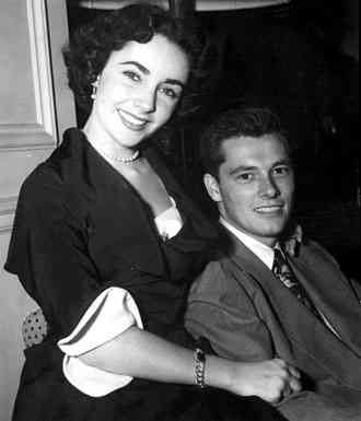 Elizabeth Taylor e Conrad Hilton Jr