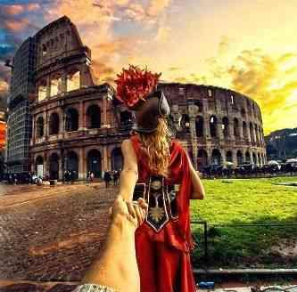 "Fecho com o Coliseu e ""La dolce vita"" romana..."