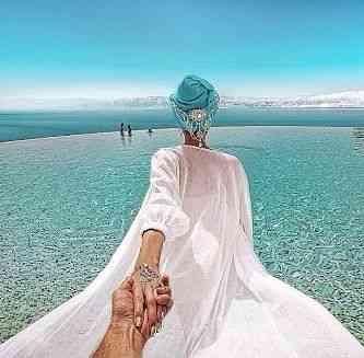Esta apoteótica foto de Murad, tirada no Mar Morto, teve a bagatela de 160004 curtidas (like) até a hora em  que eu fazia este post!