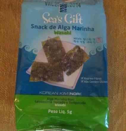 """Este é o de alga mas com wasabi pra os que gostam da vida mais """"caliente"""""""