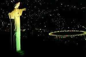 Deixo os nossos craques sob a benção do Senhor... Dizem que Deus é brasileiro....