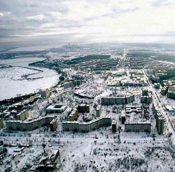 Esta é Pripyat, cidade ucraniana que foi abandonada depois de um acidente nuclear em 1986.