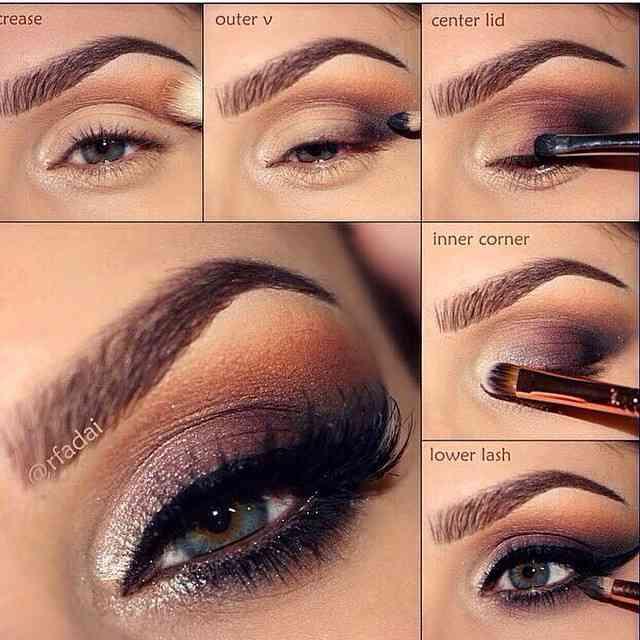 Passo a passo pra fazer um make-up glorioso! ??? #olhopoderoso #makeup
