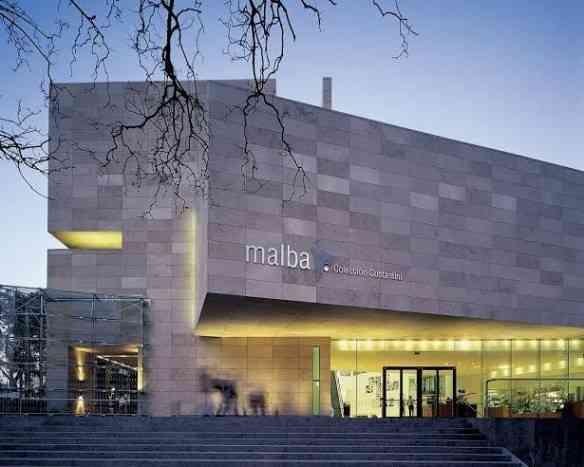 O lindo prédio do maravilhoso museu MALBA!