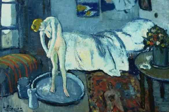 """Agora é a vez de Degas ser a fonte d inspiração, na figura da mulher, tema central deste quadro: """"O Quarto Azul""""…"""
