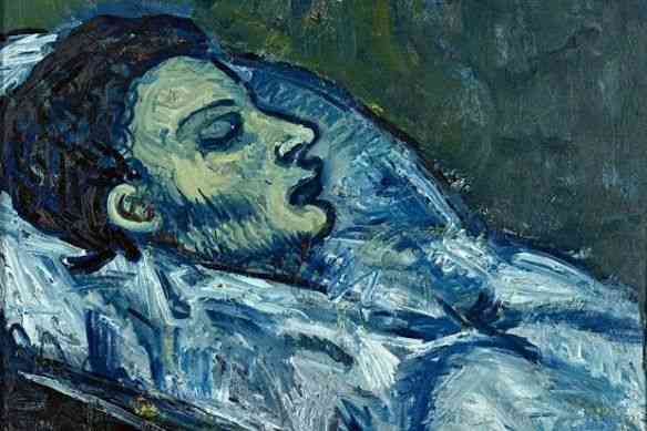 """Carlos Casagemas, que com sua morte inundou a vida de Picasso de tristeza, inspirando sua carreira rumo à maravilhosa """"Fase Azul""""…"""