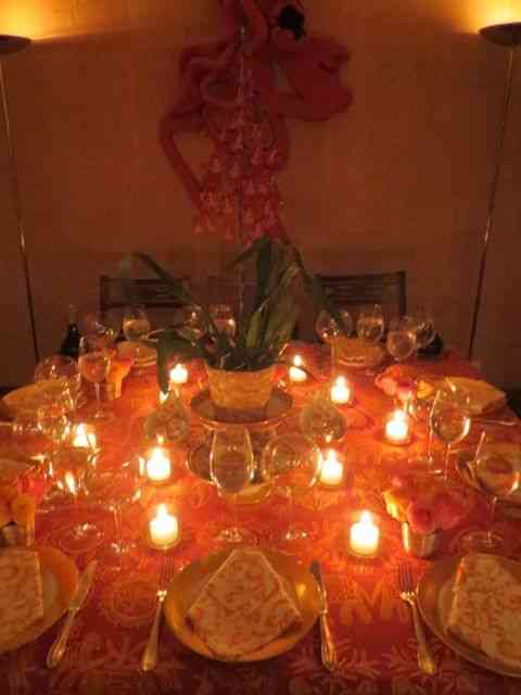 Uma mesa que celebrou a visita dos Reis Magos...