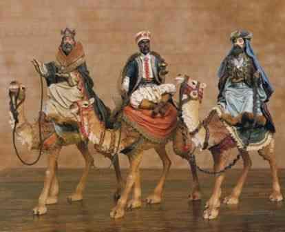 Melchior, Baltasar e Gaspar chegando ao encontro de Deus!