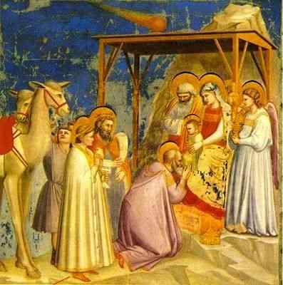 """""""Adoração dos reis Magos"""", do grande Giotto, minha representação preferida deste dia de festa!"""