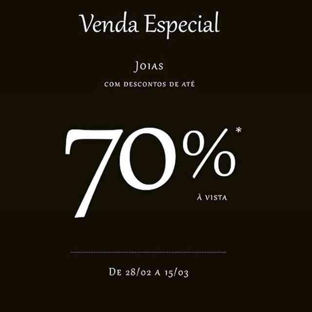 SARA Joias com desconto de 70%! ????! Vai perder? Corre lá!  @joalheriasara #sarajoias #topjoias #imperdivel ???