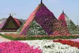 Fecho com as famosas pirâmides floridas!