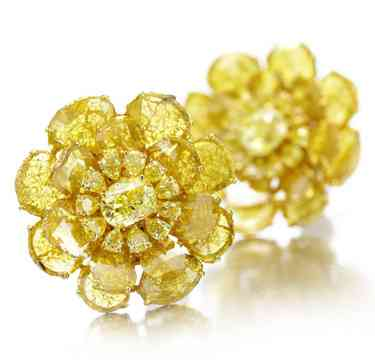 A-Pair-of-Yellow-Diamond-Ear-Clips-by-Viren-Bhagat