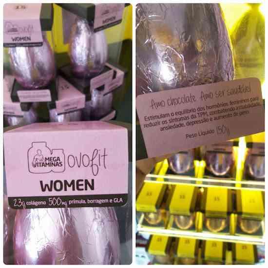 Ovo de pascoa de colageno para mulheres alivia tpm