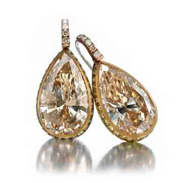 A-Pair-of-Colored-Diamond-Ear-Pendants-by-Hemmerle